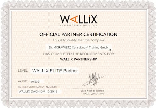 Wallix Elite Partner Zertifikat